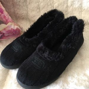 Bobs Shoes - Bob's memory foam slipper shoes size 10 black
