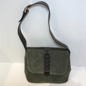 Aurielle Handbags - Aurielle  olive green suede bag