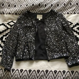 Cropped Sequin Cardigan - silence + noise