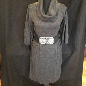 Alyx Dresses & Skirts - Alyx Knitted Sweater Dress with Faux Snake Belt