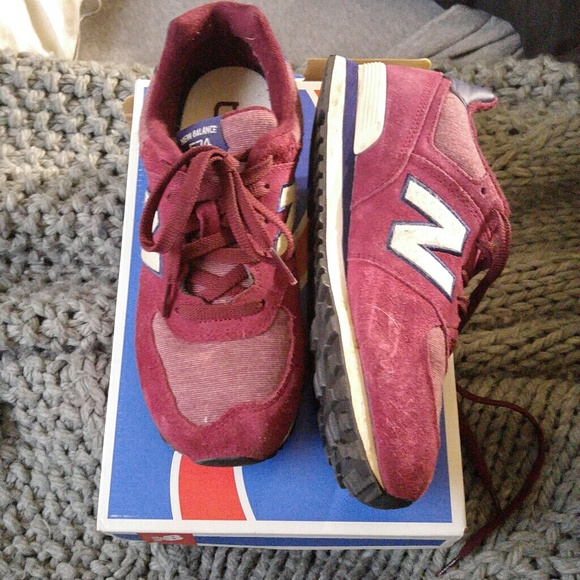 a99142d507ab2 New Balance Shoes | 574 Burgundy Color In Womens 6 | Poshmark