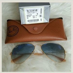 Ray-Ban Accessories - Original Ray Ban 55mm gradient Blue/Clear lenses