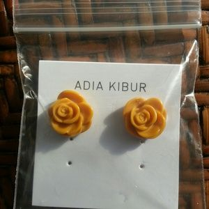 Adia Kibur Jewelry - NWT Rose Resin Earrings!