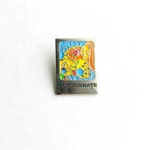 Vintage Accessories - Vintage Considerate Enamel Pin
