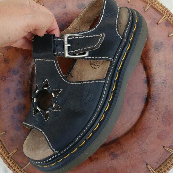 cb3131efc70e7 Dr. Martens Shoes - Doc Martens star cutout sandals