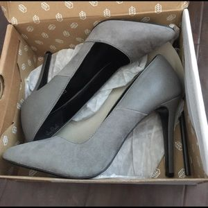 Call It Spring Shoes - Beautiful gray heels