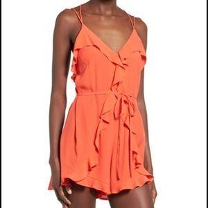 ASTR Pants - ASTR romper size Medium beautiful Orange color.