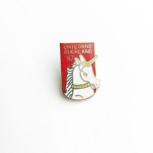 Vintage Accessories - '87 Auckland Unicorns Enamel Pin