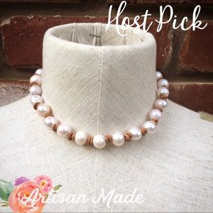 Coffee Bean's Boutique Jewelry - HP NEW Artisan Leather Pearl Necklace Classic Boho