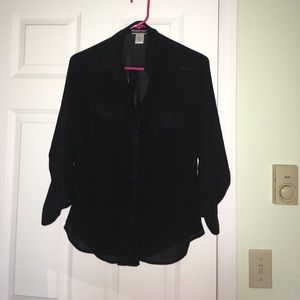 Wet Seal Tops - Sheer black button up