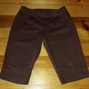 XOXO Pants - Long XOXO Brown Shorts (size 1/2)