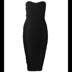 Black bodycon bandage dress size large