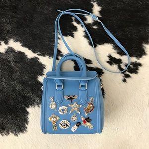 Alexander McQueen Handbags - Mini Heroine Embroidered Cross Body in Baby Blue
