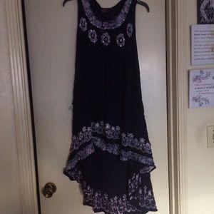 Boutique 9 Dresses & Skirts - Boutique Spring hi-low blue floral dress one size