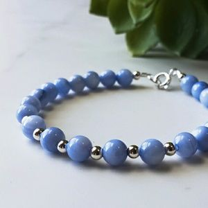 Jewelry - NEW Sterling Silver Bead and Round Shell Bracelet