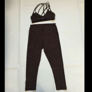 Pilyq Other - PILYQ brown marble workout yoga set size small new