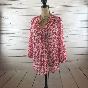 Gibson Tops - Gibson Floral Top Size M