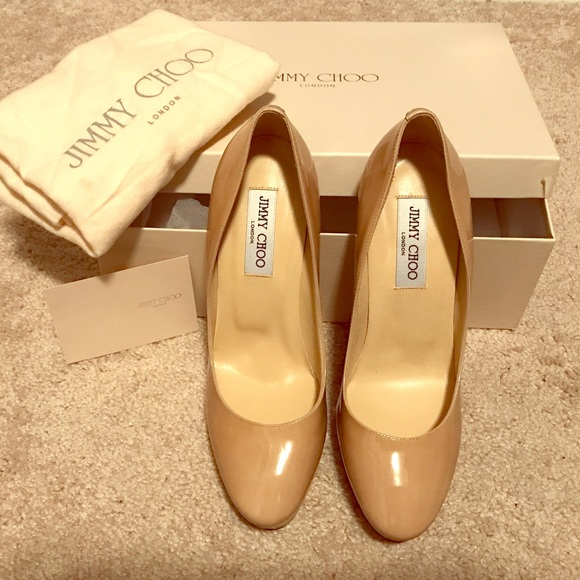 bb31ce055491 Jimmy Choo Cosmic Patent Leather Heels. Size 39.5.