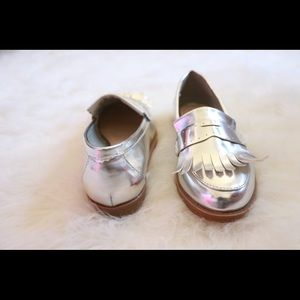Metallic Penny Loafers