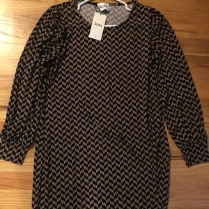 Leota Dresses & Skirts - Leota polyester and spandex black and brown dress