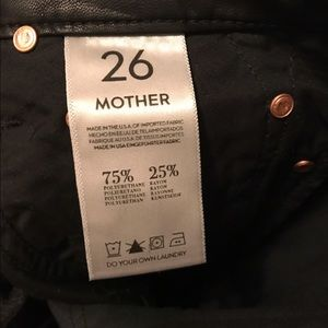 20553f8ead7ad MOTHER Pants - MOTHER brand leather jeans pants