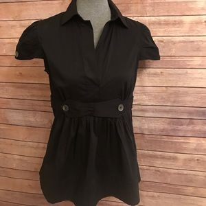 BCBGMaxazria Black Blouse Sz Medium NWT