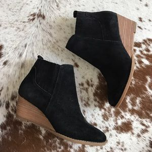 Franco Sarto Shoes - NEW Franco Sarto black suede wedge bootie 35.5