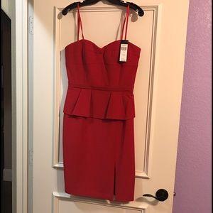 BCBGMAXAZRIA Red strapless dress