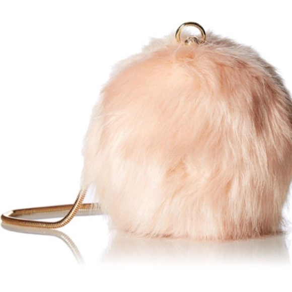 04e30924e9 Aldo pink faux fur cross-body