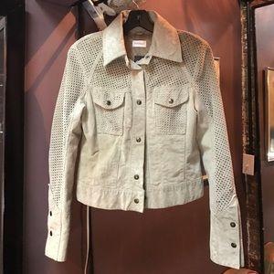 Motivi Jackets & Blazers - Motivi Italian nude/beige suede jacket