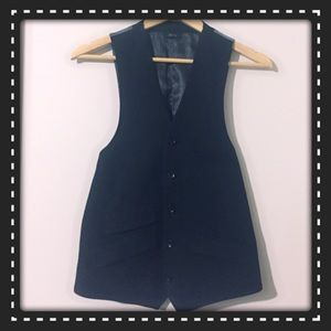 jf j.ferrar Other - Black Vest with Gray Back Modern Fit
