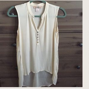 Anthropologie Tops - Anthropologie cream tank with flowy back