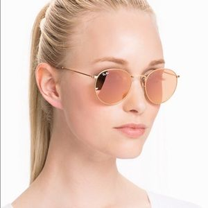 Ray-Ban Accessories - Authentic made Ray-ban round metal pink lens