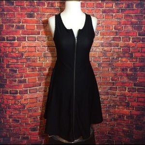 Bar III Dresses & Skirts - Bar III Black Zip Front Lace Back Dress Size M