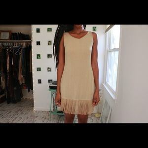 Fringe Hem Shift Dress