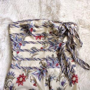 BCBGMaxAzria Dresses & Skirts - BCBGMAXAZRIA strapless mixed pattern midi dress
