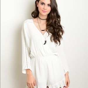 Other - NEW! Bohemian Off White Playsuit