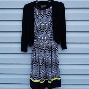 Jessica Howard Dresses & Skirts - Belted dress with matching cardigan