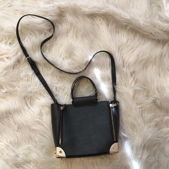 94b5f39fa3b2 Forever 21 Handbags - Black Gold Mini Crossbody Bag