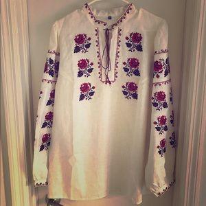 European Culture Tops - Ukrainian vyshyvanka blouse. National costume .