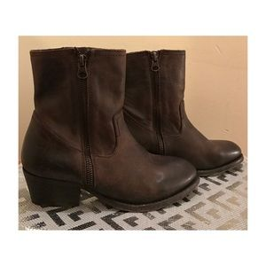 H By Hudson Shoes - NEW H by HUDSON Brown Leather Ankle Boots Size 7