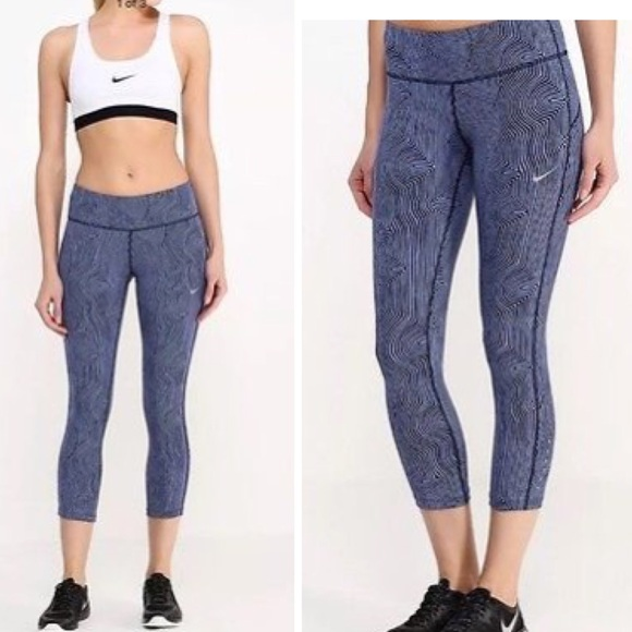 b745326b5d Nike Pants | Zen Epic Run Printed Running Capris Womens | Poshmark