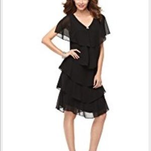 Patra Dresses & Skirts - Patra Formal Ruffle Tiered Chiffon Dress Cocktail