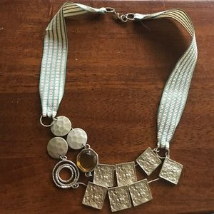 Statement Ribbon Necklace