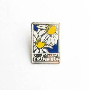 """Vintage Accessories - Vintage """"Keep America Beautiful"""" Enamel Pin"""