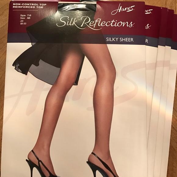 64ddb20ea1e6 Hanes Intimates & Sleepwear | 5 Pairs Silk Reflections Sheer ...