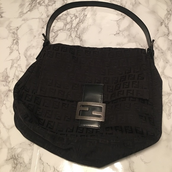 1145d4b2d17c Fendi Handbags - Fendi Zucca print Mama Bag in black