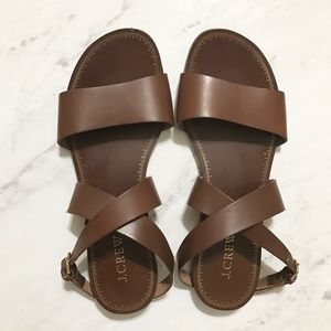 J. Crew Shoes - Jcrew leather made in Italy sandal Like new!