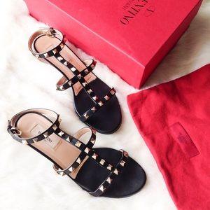 Valentino Shoes - Valentino rockstud T Strap leucite sandals 38.5