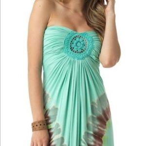 Sky Pink Tie Dye Maxi Dress